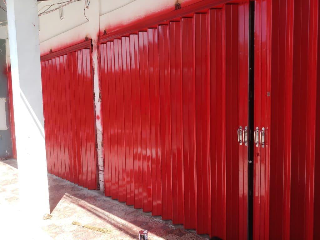 Cek Ketebalan UNP yang Digunakan - Keunggulan Pintu Toko Harmonika Kualitas Super